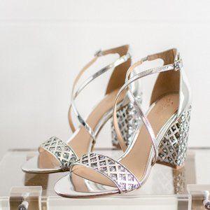 Jewel Badgley Mischka Women KATHY Sandal Silver 9